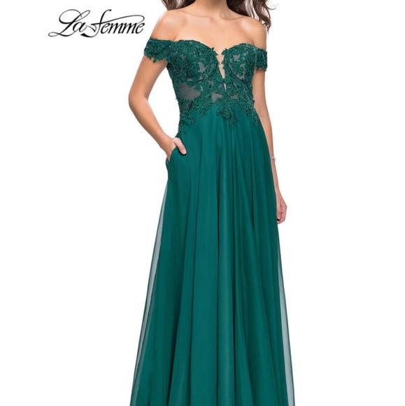 La Femme Dresses | Hunter Green Prom Dress | Poshmark